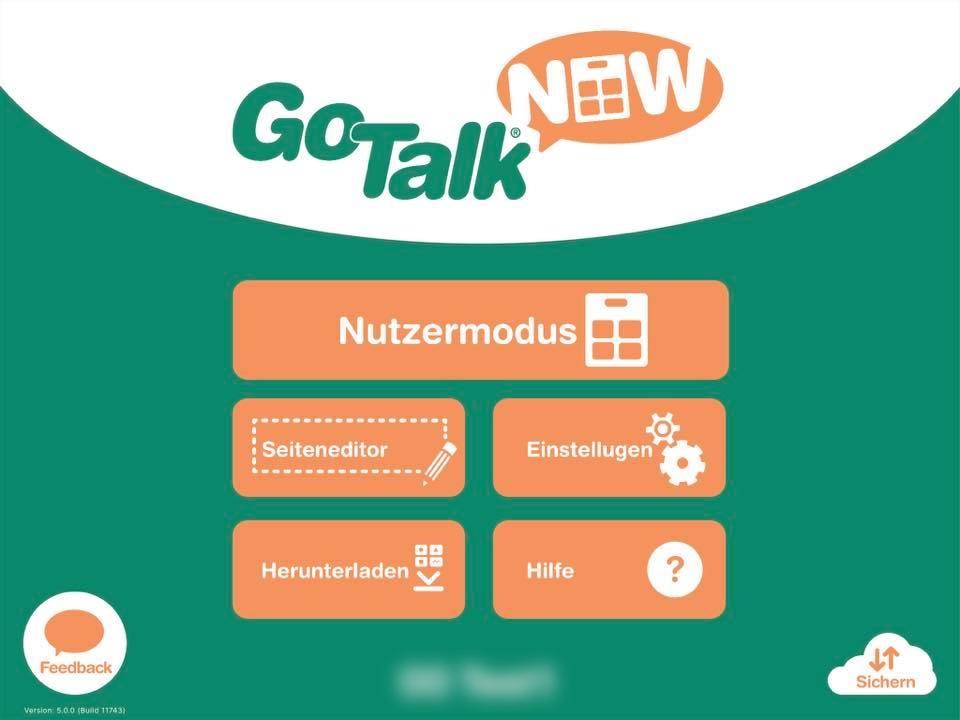 GTN-Startbildschirm